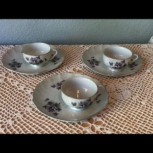 Norcrest tea cup and appetizer plates